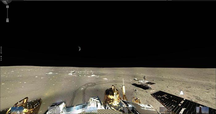 """Впечатляваща интерактивна панорама на Луната през очите на """"Юйту"""""""