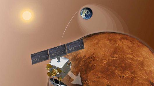 Индийски космически апарат утре трябва да влезе в орбита около Марс