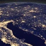 Пред новогодишната нощ Земята сияе прелестно в Космоса (видео)