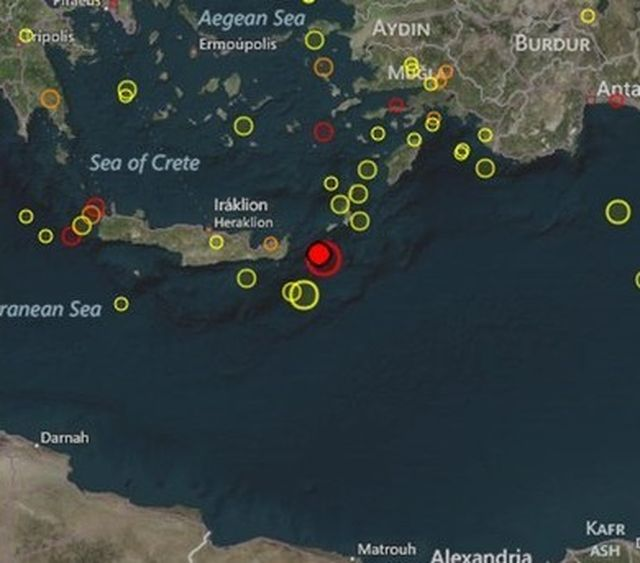 Мощно земетресение край бреговете на Гърция