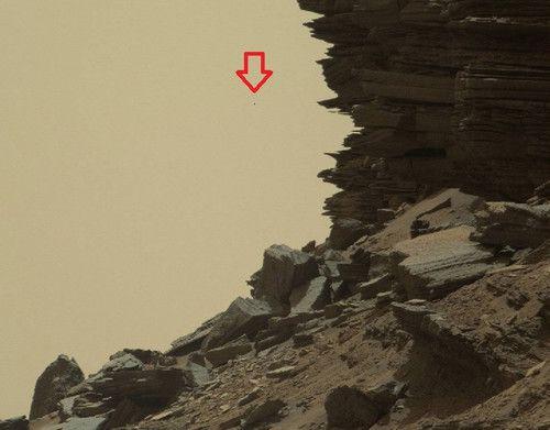 Curiosity изпрати изображения на марсиански скали и НЛО (снимки)