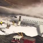 """""""Късмет"""": Самолет се сблъска с елен при излитане (видео)"""