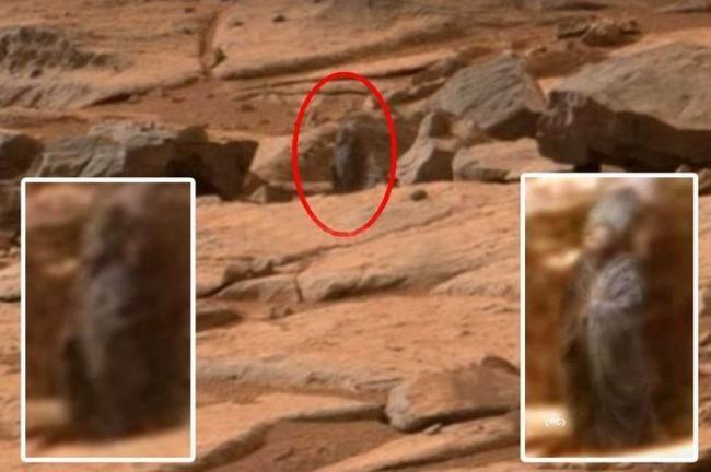 Фигура на извънземен е открита на снимки от Марс (видео)