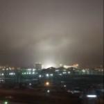 Зловещо пулсиращо око в небето на Челябинск изплаши жителите му (видео)