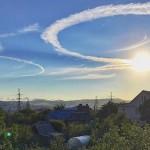 Странни кръгове се появиха в небето над руски град (снимки)