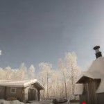 Ярък метеорит зрелищно се взриви над Лапландия (видео)