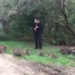 Музикант привлича десетки еноти с мелодии на коренните американци (видео)
