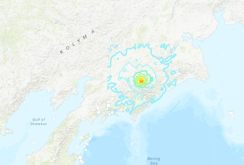 И Чукотка бе разтърсена от силно земетресение