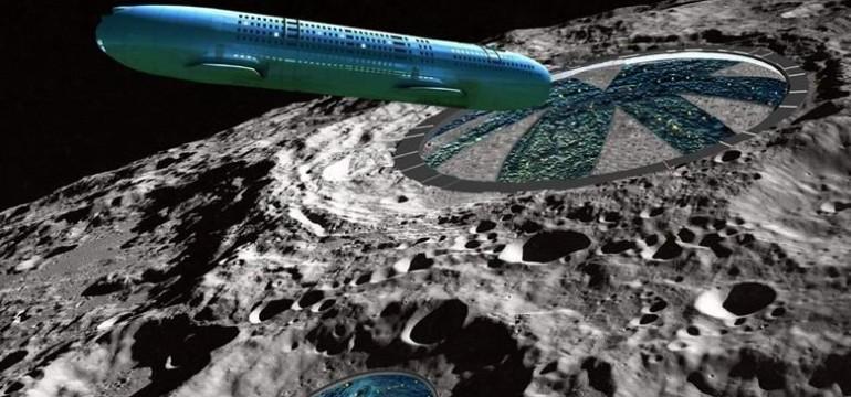 Уфолог откри извънземен кораб в кратер на обратната страна на Луната